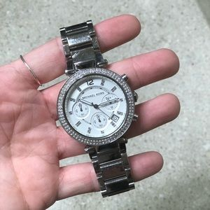 Michael Kors Silver/Crystal Watch